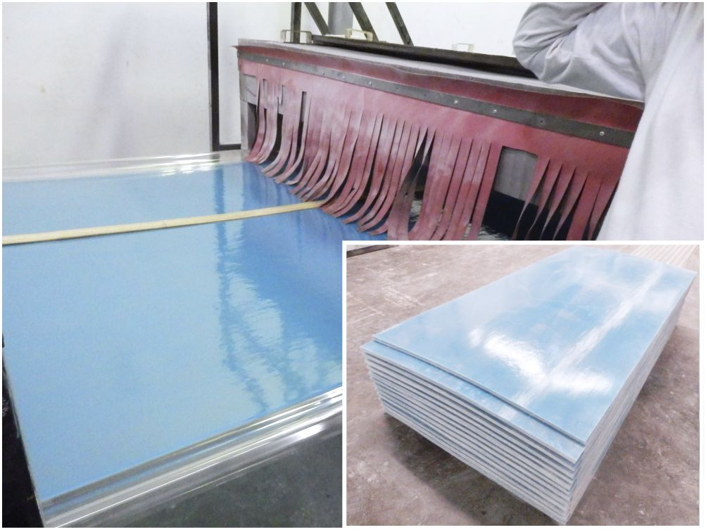 flat sheet fiberglass blue color