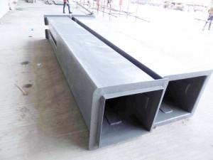 Talang tegak fiberglass di proyek Gajah tunggal tangerang