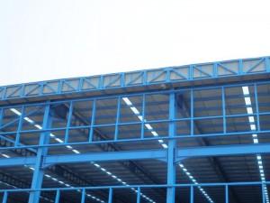 Talang air fiberglass terpasang di proyek