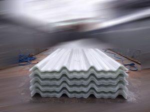 atap gelombang AK 700 warna transparan