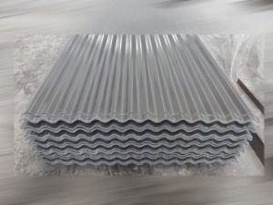 atap fiberglass tipe gelombang kecil warna abu-abu