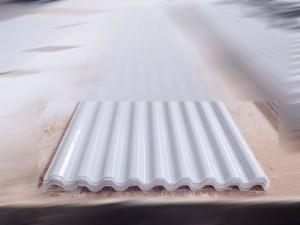 Atap fiberglass - tipe spandek 760 warna putih susu