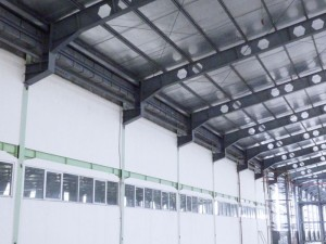 Talang air fiberglass untuk di proyek Synergy Cibitung