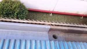 Talang air fiberglass tebal 3mm dan bergaransi 10 tahun tidak bocor atau rusak