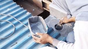 Corong air dilapis dengan fiber untuk mencegah bocoran