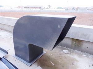 Elbow fiberglass untuk talang air fiberglass