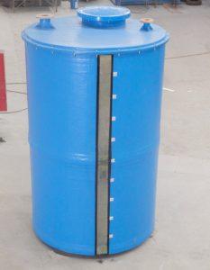 Tangki air fiberglass bulat cylinder