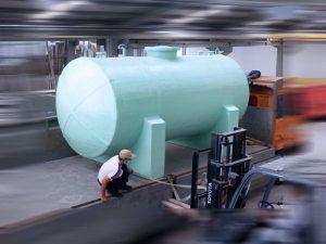 Tankgi fiberglass Horizontal kapasitas 10m3 tahan asam kimia