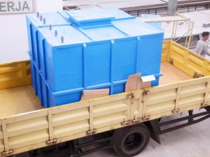 Tangki kotak fiberglass untuk dibawa tanah
