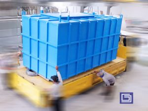 Square tank fiberglass for ground water installation