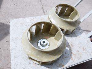 Lapis kipas atau baling-baling fiberglass untuk anti karat