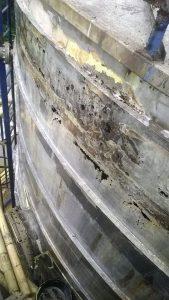 Kondisi tangki sering rembes karena uda keropos dan perlu di perbaiki sehingga bisa operational lagi
