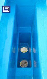 Box kontrol dan corong air fiberglass bisa di custom sesuai permintaan