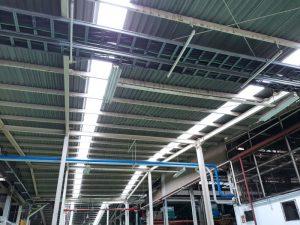 Atap Fibre Deluxe dari posisi dalam pabrik