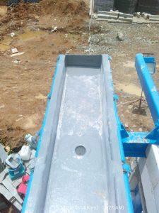 Corong fiberglass di proyek Mayora Indah