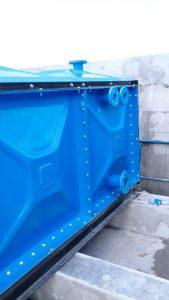 Flange tangki panel fiberglass untuk menyambung pipa pvc atau baja .