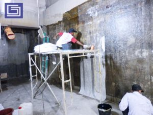 Proses pekerjaan pelapisan fiberglass bergaransi 10 tahun tidak bocor atau rembes