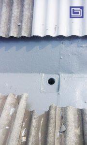 Hasil coating area box kontrol dan corong .
