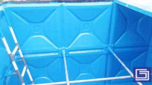 Tangki panel fiberglass bergaransi 10 tahun tidak bocor dan kami melayani custom desain dengan volume air yang fleksibel.