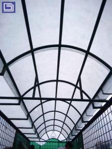 Flat sheet atap untuk kanopi rumah.