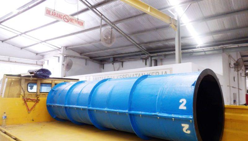Fungsi bekisting formwork fiberglass adalah untuk pengecoran beton sehingga hasil beton dapat dibentuk bulat dan cylinder.