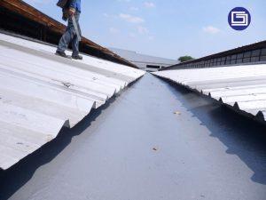 Hasil lining anti bocor fiberglass untuk pabrik Prospect Motor Sunter.