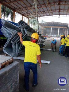 Pengiriman talang air fiberglass  untuk proyek di Lampung.