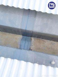 Photo sambungan talang fibreglass.