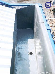 Photo corong air fiberglass terpasang.
