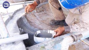 Proses coating anti-uv fiberglass.